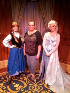 Me with Anna and Elsa!