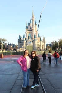Cynthia and me in front of the castle!