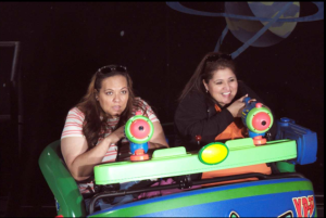 Me and Cynthia on Buzz Lightyear's Space Ranger Spin