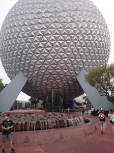I usually take several pictures of Spaceship Earth